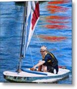 Sailing On Lake Thunderbird Metal Print