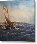 Sailing On Narragansett Bay Metal Print