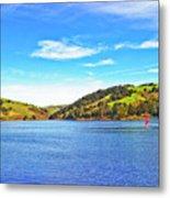 Sailing On San Pablo Dam Reservoir Metal Print