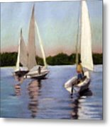 Sailing On The Charles Metal Print