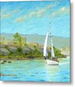 Sailing Out To Sea Metal Print