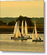 Sailing Practice Metal Print