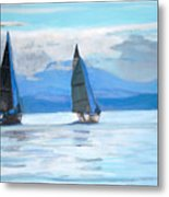 Sailing Race Metal Print