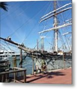 Sailing Ship At Galveston Metal Print