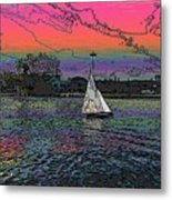 Sailing South Lake Union Metal Print