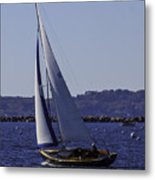 Sailing Stonington Harbor Metal Print