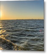 Sailing Sunset Metal Print
