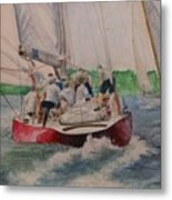 Sailing Teamwork Metal Print