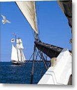 Sailing The Atlantic Metal Print