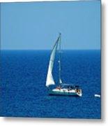 Sailing The Deep Blue Sea Metal Print