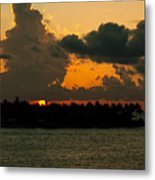 Sailing The Keys At Sunset Metal Print