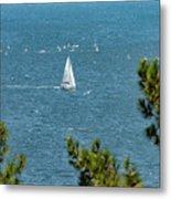 Sailing The Sea Of Marmara Metal Print