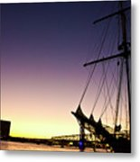 Sailing Through The City Metal Print