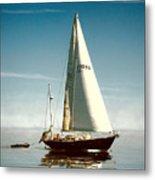 Sailing Through The Watch Hill Pass. Metal Print