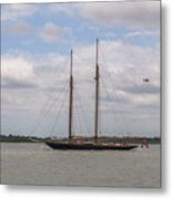 Sailing Under British Flag Metal Print