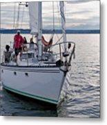 Sailing Up Metal Print