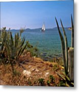 Sailing Waterfront Of Prvic Island View Metal Print