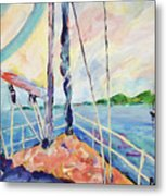Sailing - Wind In Your Face Metal Print