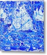 Sailing With Friends Metal Print