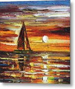 Sailing With The Sun Metal Print