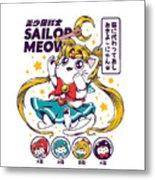 Sailor Meow Metal Print
