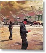 Sailors And Food Trucks Metal Print