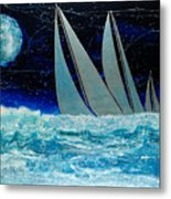 Sailors Night Race Metal Print