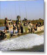 Sailors Racing Along The Euphrates Metal Print
