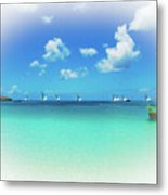 Sails In The Wind Sandy Ground Anguilla Metal Print