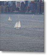 Sails On The Harbor No. 2 Metal Print