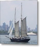 Sails On The Harbor Metal Print