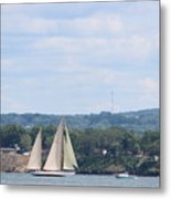 Sails Up Metal Print