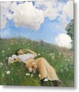 Saimi In The Meadow Metal Print