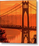 Saint John's Bridge At Sunrise Metal Print