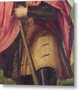 Saint Alexander A Panel From The Altarpiece The Nativity With Saints Metal Print
