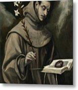 Saint Anthony Of Padua Metal Print
