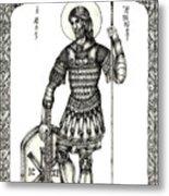 Saint Artemius Metal Print
