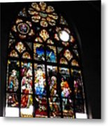 Saint Augustine Stained Glass Metal Print