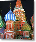 Saint Basils Cathedral On Red Square, Moscow Metal Print
