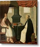 Saint Bruno And Pope Urban II Metal Print by Francisco de Zurbaran