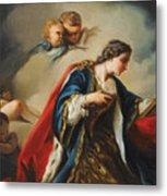 Saint Elisabeth Of Hungary Praying Metal Print