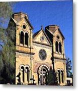 Saint Francis Cathedral Santa Fe Metal Print