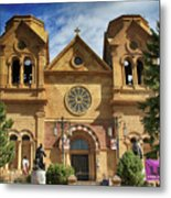 Saint Francis Cathedral Metal Print