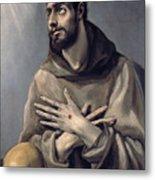 Saint Francis In Ecstasy Metal Print