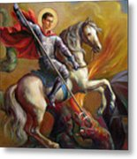 Saint George And The Dragon Metal Print