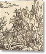 Saint George Slaying The Dragon Metal Print