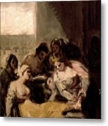 Saint Isabel Of Portugal Healing The Wounds Of A Sick Woman Metal Print