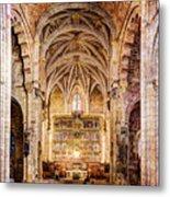 Saint Isidore - Romanesque Temple Altar And Vault - Vintage Version Metal Print