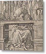 Saint Jerome In His Study Metal Print