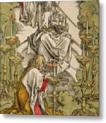 Saint John On The Island Of Patmos Receives Inspiration From God To Create The Apocalypse Metal Print